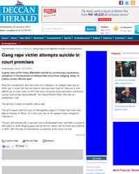 Gang rape victim attempts suicide in court premises: Deccan Herald